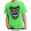 Mens Shirt Big Gorilla Face Pigment Dyed Tee T-Shirt