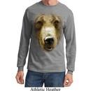 Mens Shirt Big Grizzly Bear Face Long Sleeve Tee T-Shirt