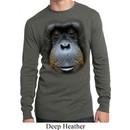 Mens Shirt Big Orangutan Face Long Sleeve Thermal Tee T-Shirt