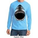 Mens Shirt Big Shark Face Long Sleeve Tee T-Shirt
