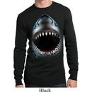 Mens Shirt Big Shark Face Long Sleeve Thermal Tee T-Shirt