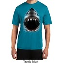 Mens Shirt Big Shark Face Moisture Wicking Tee T-Shirt