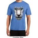 Mens Shirt Big White Tiger Face Moisture Wicking Tee T-Shirt