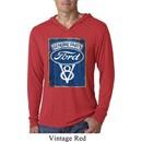 Mens Shirt V8 Genuine Ford Parts Lightweight Hoodie Tee T-Shirt