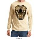 Mens Snake Shirt Big Cobra Snake Face Long Sleeve Tee T-Shirt
