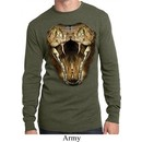 Mens Snake Shirt Big Cobra Snake Face Long Sleeve Thermal Tee T-Shirt