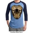 Mens Snake Shirt Big Cobra Snake Face Raglan Tee T-Shirt