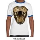 Mens Snake Shirt Big Cobra Snake Face Ringer Tee T-Shirt