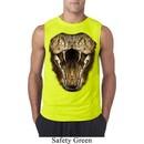 Mens Snake Shirt Big Cobra Snake Face Sleeveless Tee T-Shirt