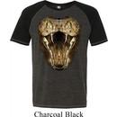 Mens Snake Shirt Big Cobra Snake Face Tri Blend T-Shirt