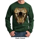Mens Snake Sweatshirt Big Cobra Snake Face Sweat Shirt
