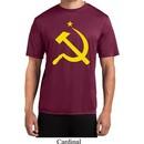 Mens Soviet Shirt Yellow Hammer And Sickle Moisture Wicking Tee