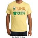 Mens St Patrick's Day Shirt Drink Til Yer Green Organic Tee T-Shirt