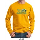 Mens St Patrick's Day Sweatshirt Official Drinking Shirt Sweat Shirt