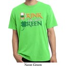 Mens St Patrick's Shirt Drink Til Yer Green Pigment Dyed Tee T-Shirt