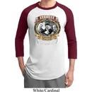 Mens Three Stooges Shirt Moonshine Whiskey Raglan Tee T-Shirt