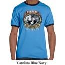 Mens Three Stooges Shirt Moonshine Whiskey Ringer Tee T-Shirt
