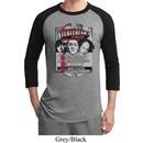 Mens Three Stooges Shirt Nyukleheads Garage Raglan Tee T-Shirt