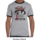Mens Three Stooges Shirt Nyukleheads Garage Ringer Tee T-Shirt