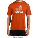 Mens White Penguin Power Swim Moisture Wicking T-shirt