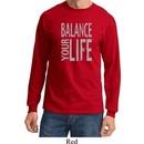 Mens Yoga Shirt Balance Your Life Long Sleeve Tee T-Shirt