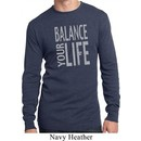 Mens Yoga Shirt Balance Your Life Long Sleeve Thermal Tee T-Shirt