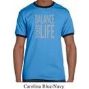 Mens Yoga Shirt Balance Your Life Ringer Tee T-Shirt