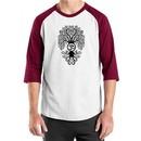 Mens Yoga Shirt Black Bodhi Tree Raglan Tee T-Shirt