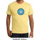Mens Yoga Shirt Blue Vishuddha Organic Tee T-Shirt