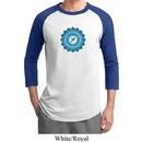 Mens Yoga Shirt Blue Vishuddha Raglan Tee T-Shirt