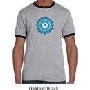 Mens Yoga Shirt Blue Vishuddha Ringer Tee T-Shirt