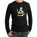 Mens Yoga Shirt Body OM Long Sleeve Thermal Tee T-shirt