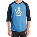Mens Yoga Shirt Body OM Raglan Tee T-Shirt