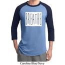 Mens Yoga Shirt Breathe Raglan Tee T-Shirt