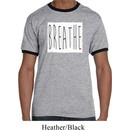 Mens Yoga Shirt Breathe Ringer Tee T-Shirt