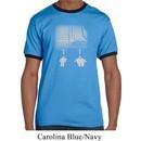 Mens Yoga Shirt Choices Carolina Blue/Navy Ringer Tee T-Shirt