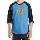Mens Yoga Shirt Dharma Raglan Tee T-Shirt