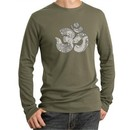 Mens Yoga Shirt Ganesha OM Long Sleeve Thermal Tee T-Shirt