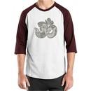 Mens Yoga Shirt Ganesha OM Raglan Tee T-Shirt