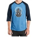 Mens Yoga Shirt Ganesha Raglan Tee T-Shirt