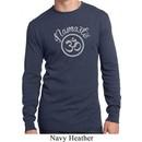 Mens Yoga Shirt Namaste Om Long Sleeve Thermal Tee