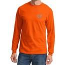 Mens Yoga Shirt OM Heart Pocket Print Long Sleeve Tee T-Shirt