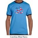 Mens Yoga Shirt Patriotic Om Ringer Tee T-Shirt