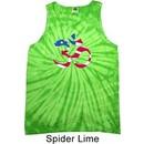 Mens Yoga Shirt Patriotic Om Tank Tie Dye Tee T-shirt