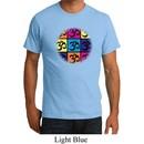 Mens Yoga Shirt Pop Art Om Organic Tee T-Shirt