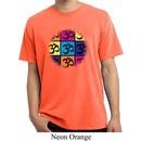 Mens Yoga Shirt Pop Art Om Pigment Dyed Tee T-Shirt