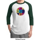 Mens Yoga Shirt Pop Art Om Raglan Tee T-Shirt
