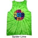 Mens Yoga Shirt Pop Art Om Tank Tie Dye Tee T-shirt