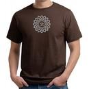Mens Yoga Shirt Sahasrara Chakra Meditation Organic T-shirt