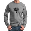 Mens Yoga Sweatshirt Black Tree of Life Sweat Shirt